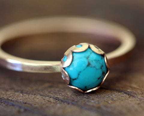 Turquoise 14k Gold Filled Ring