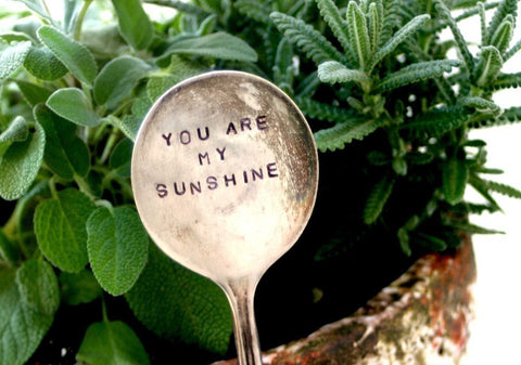 Antique Silverware Garden Marker Plant Stake - You are my Sunshine (S0170)