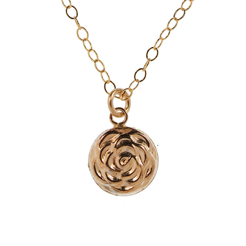 Gold Charm Necklace - Flower