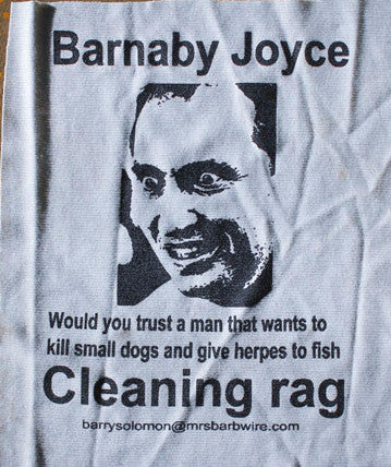 Political Cleaning Cloth - Barnaby Joyce