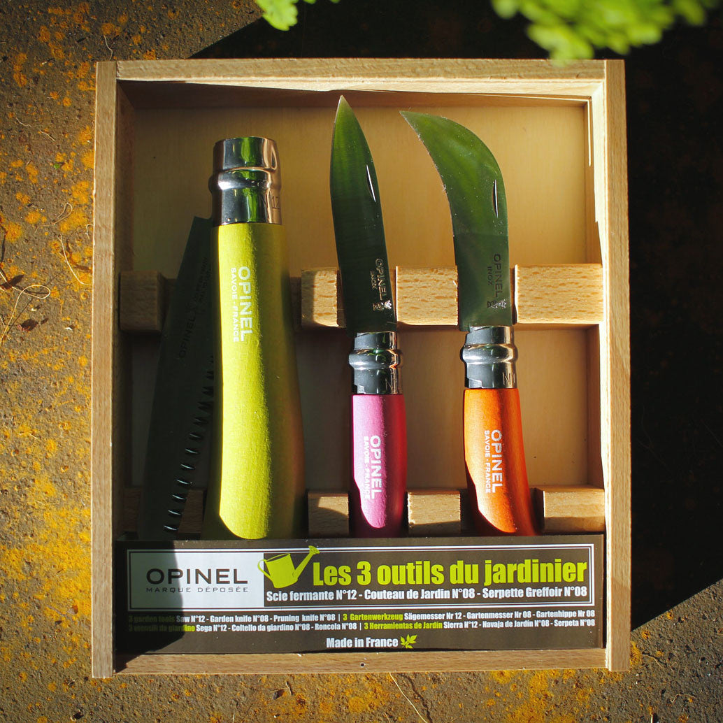 OPINEL Coloured Gardener Box Set