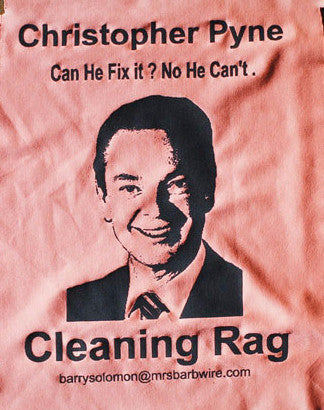 Political Cleaning Cloth - Christopher Pyne