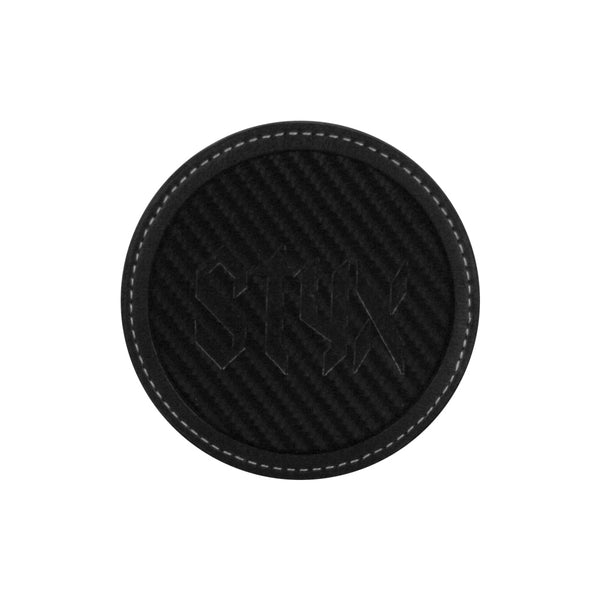 LOGO CARBON FIBER BLACK COASTER
