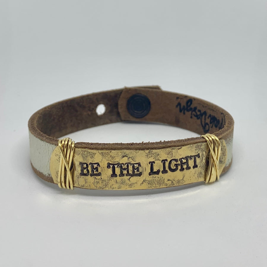 Be the Light Women's Cream/Gold Bracelet