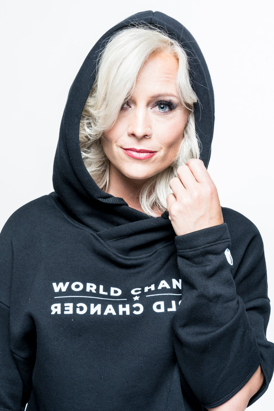 World Changer Split-Sleeve Hooded Sweatshirt