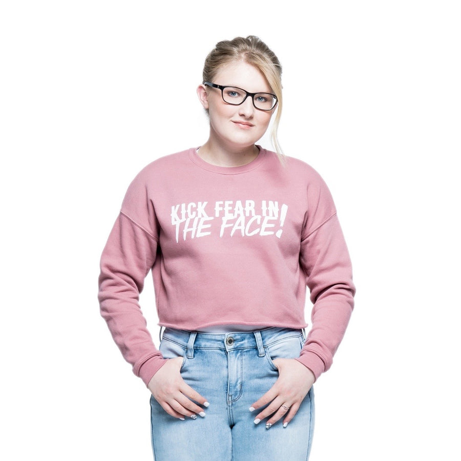Kick Fear in the Face Cropped Sweatshirt