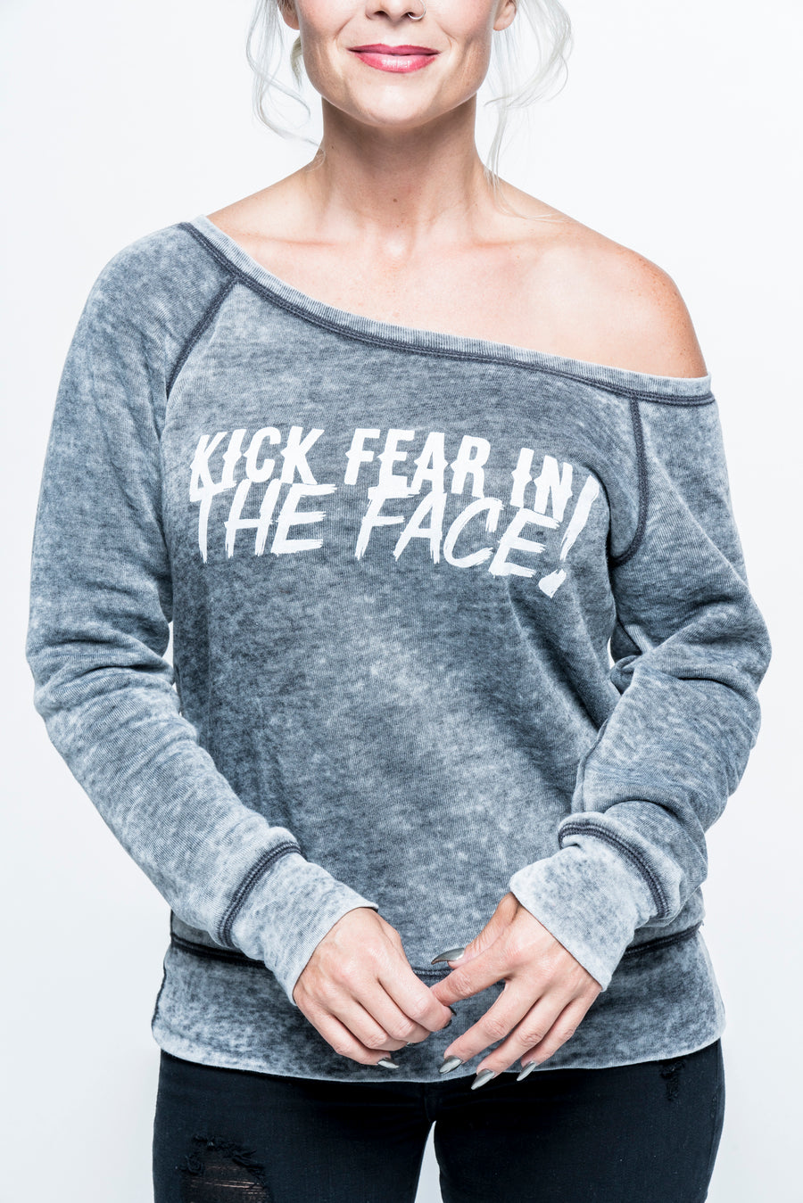 Kick Fear in the Face Fleece Sweatshirt
