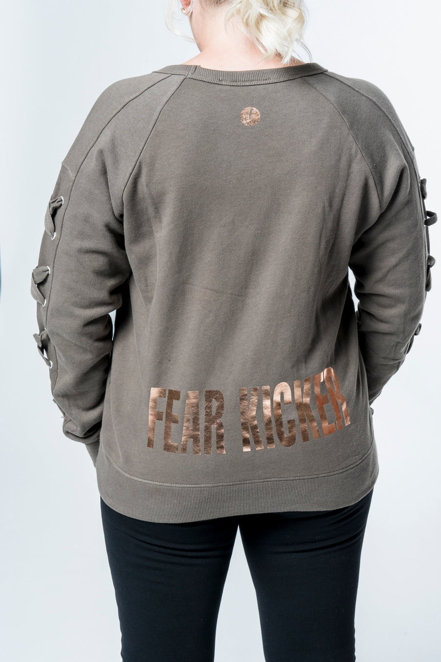 Fear Kicker Laced Sleeve Sweatshirt