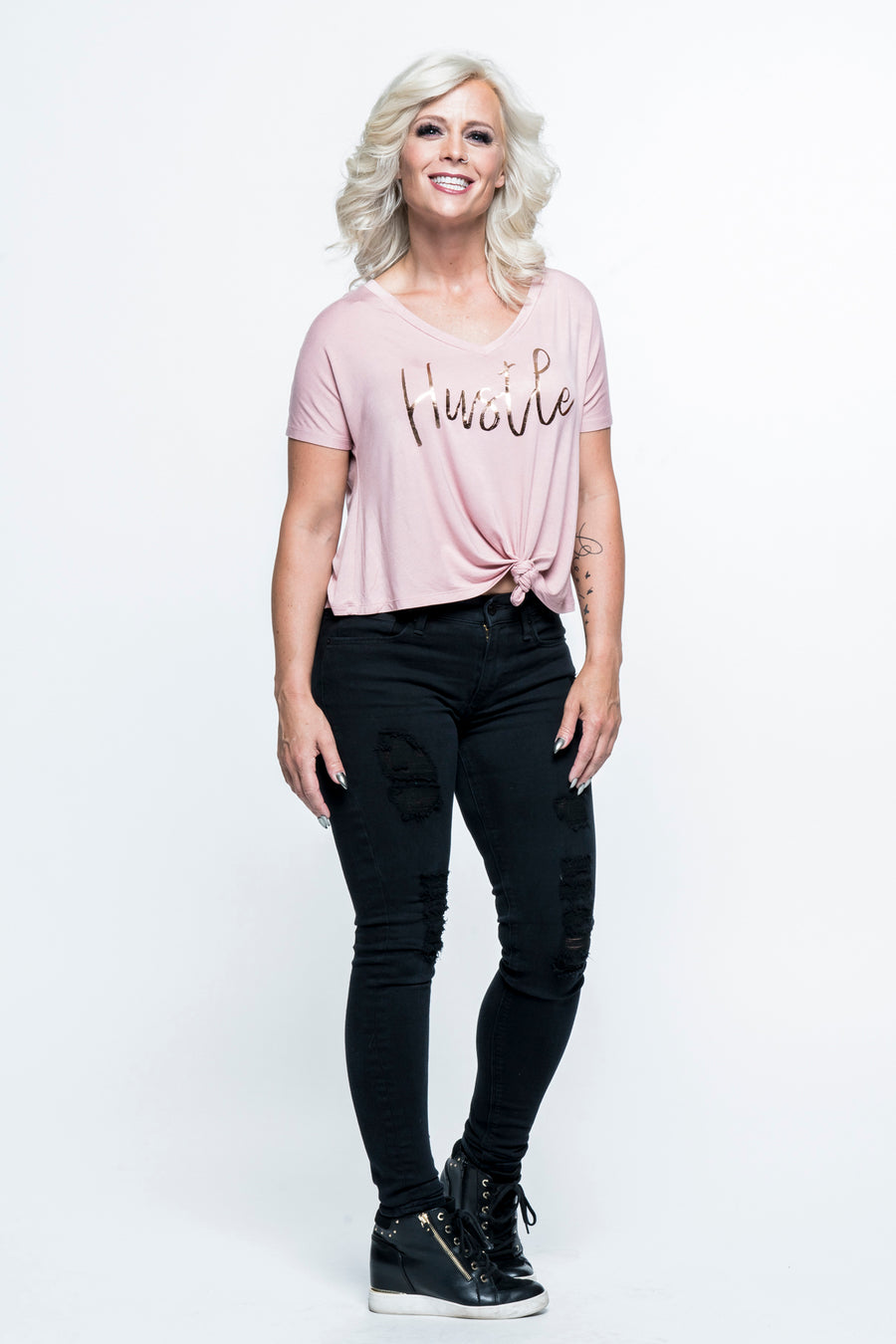 Hustle Knotted Front Top