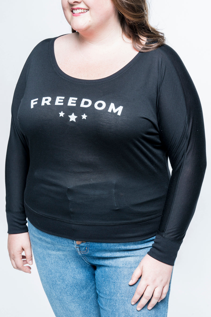 Freedom Long Sleeve Plus Top