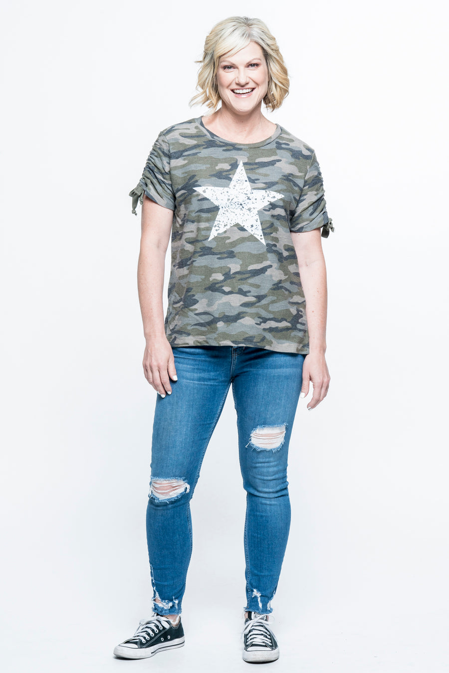Distressed Star Top
