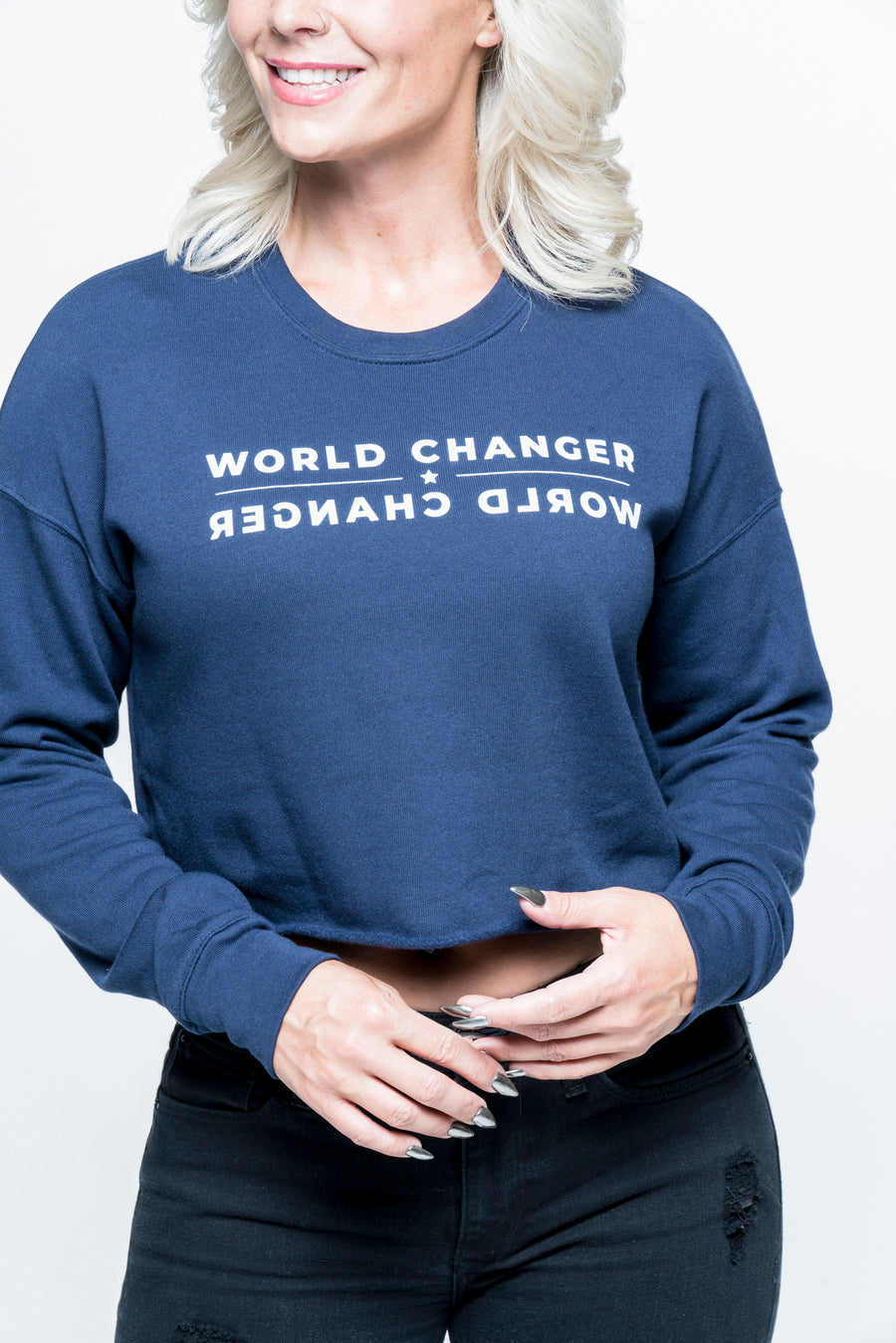 World Changer Cropped Sweatshirt