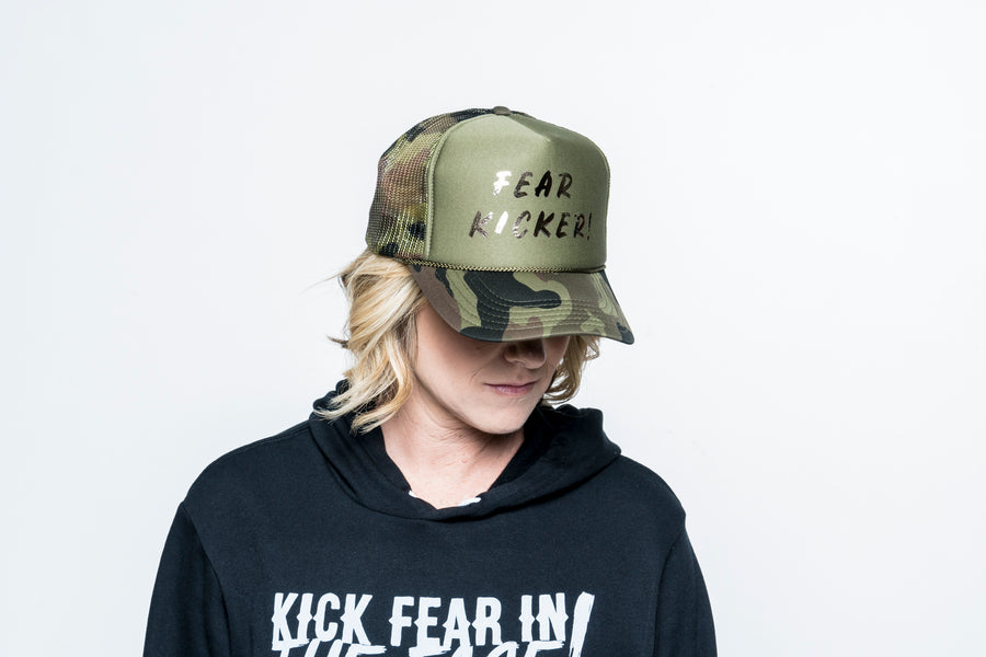 Camo Fear Kicker Trucker Hat