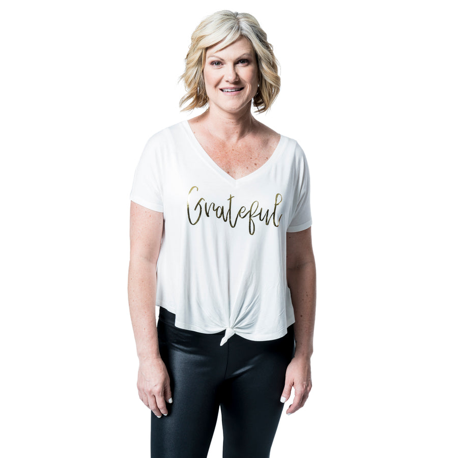 Grateful Knotted Front Top