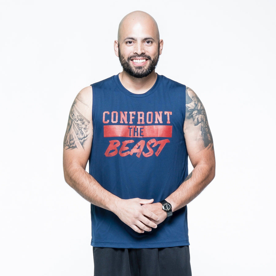 Confront the Beast Muscle Tee