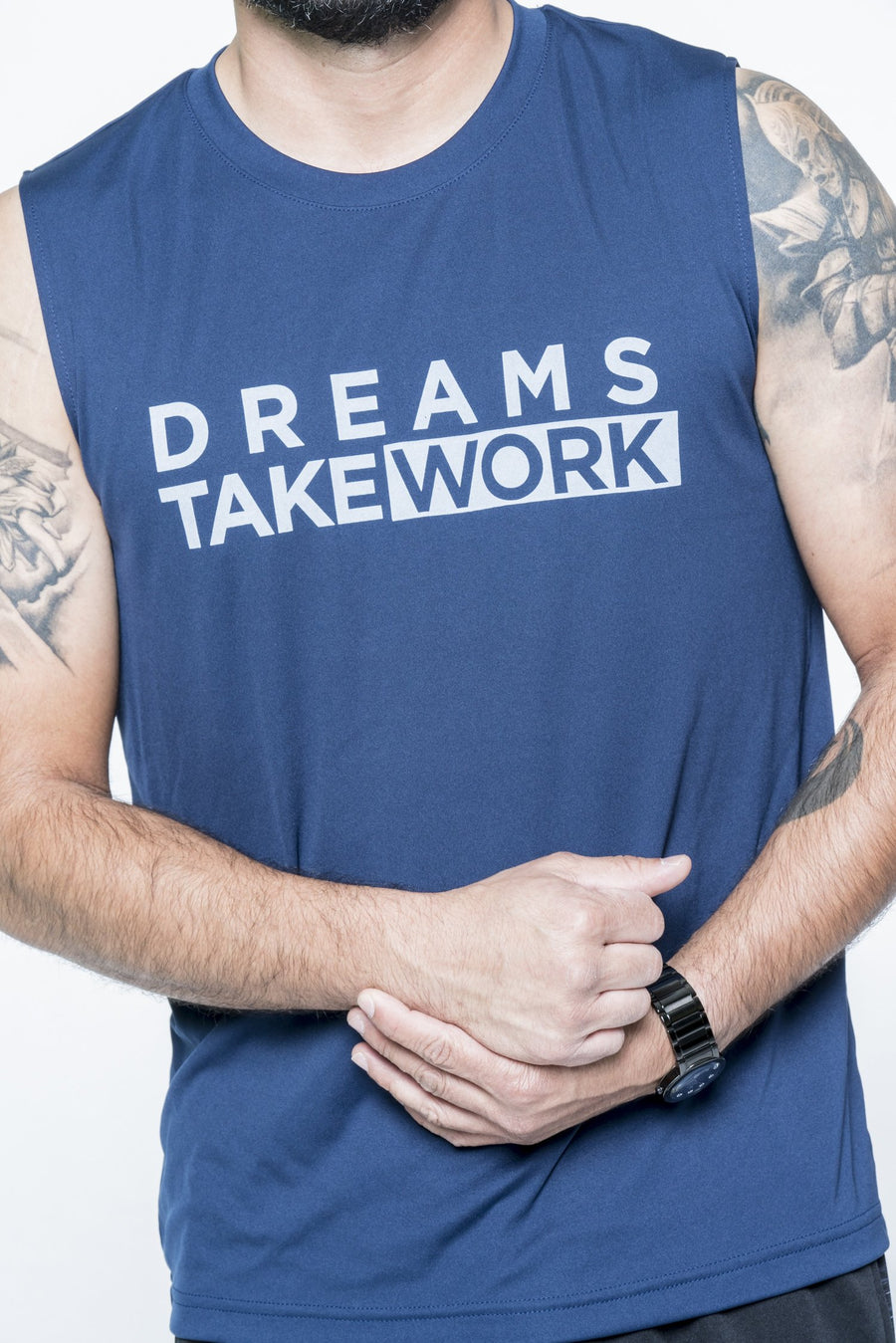 Dreams Take Work Muscle Tee