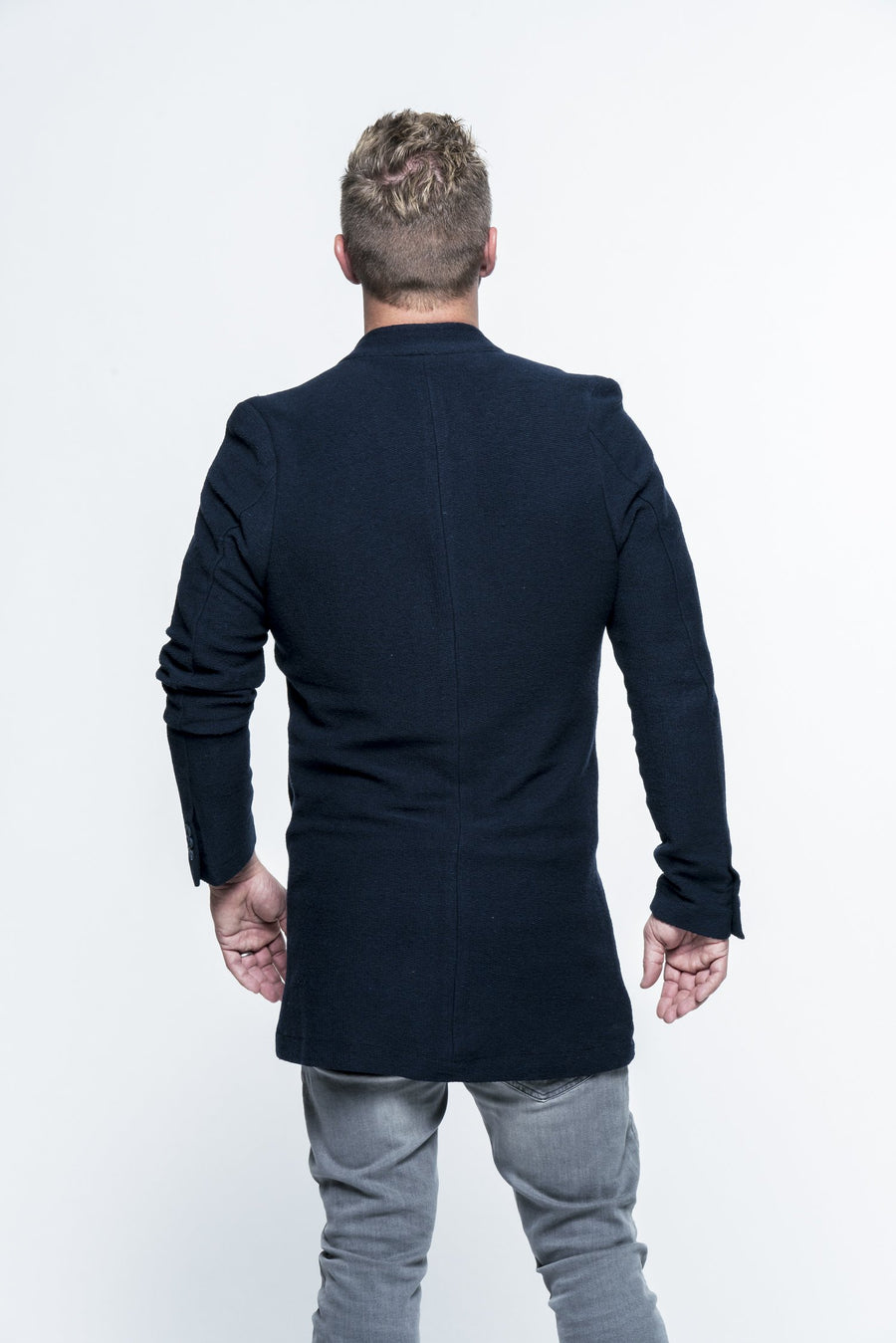 Long Knit Navy Cardigan