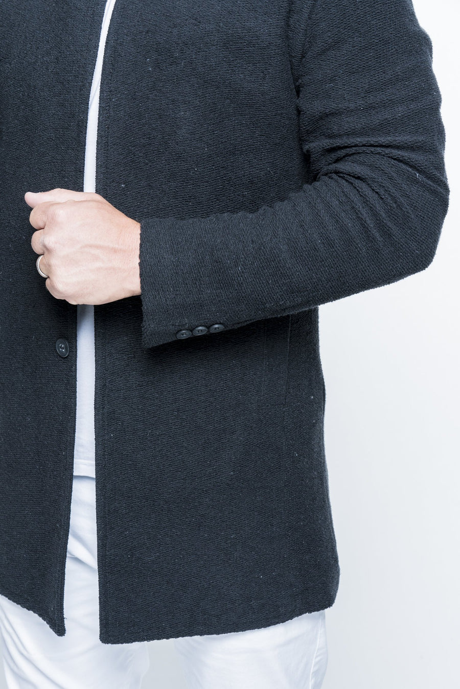 Long Knit Black Cardigan