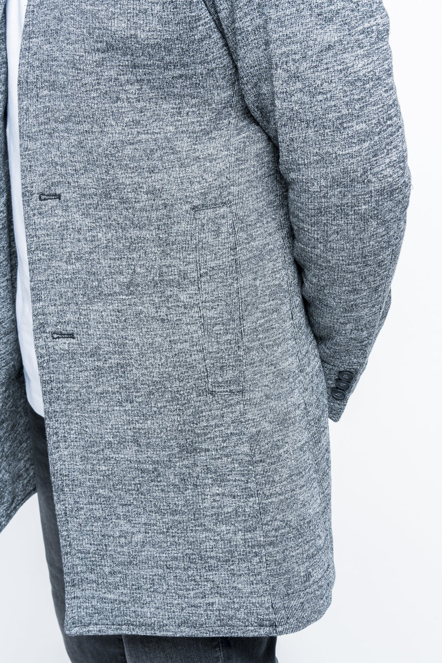 Long Knit Heather Gray Cardigan