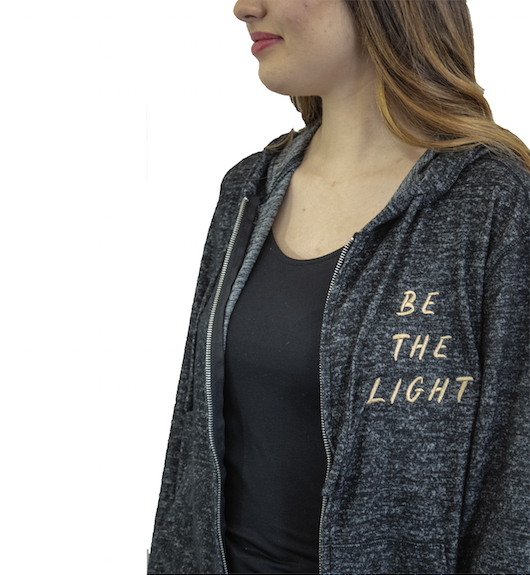 Be the Light Zip Hoodie