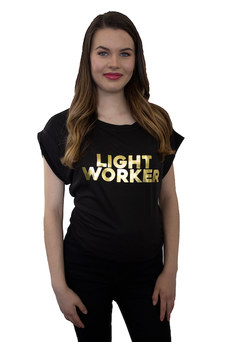 Light Worker Short Sleeve Open Back Tee