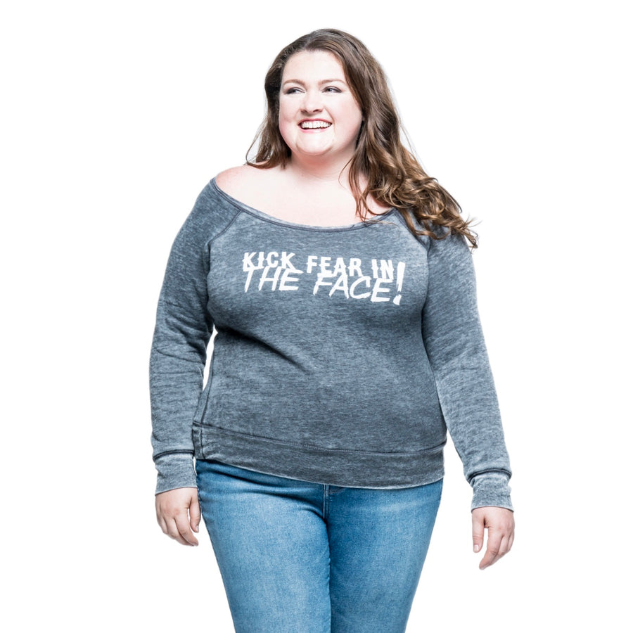 Kick Fear in the Face Plus Fleece Sweatshirt