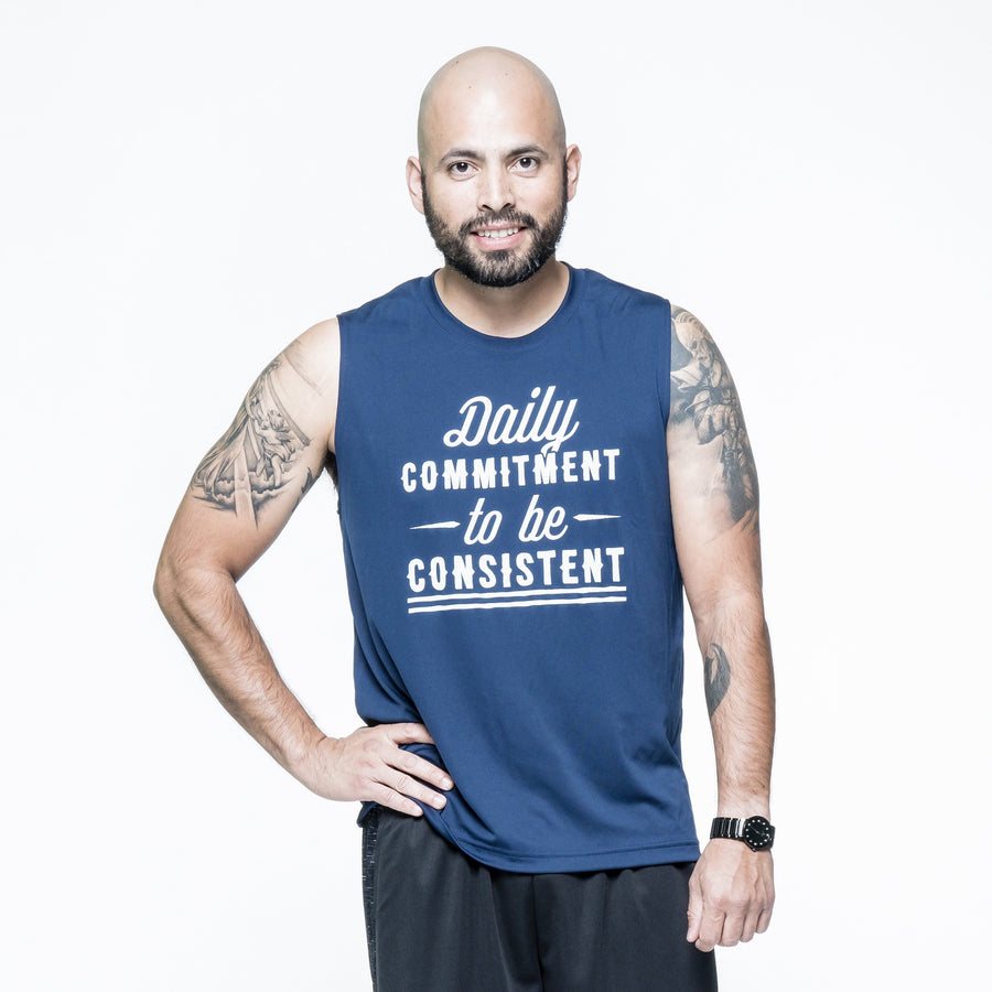 Daily Commitment to be Consistent Muscle Tee