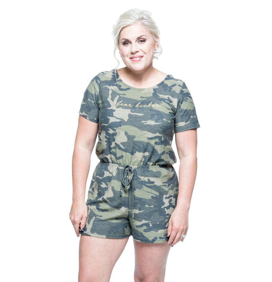 Fear Kicker Short-Sleeve Romper