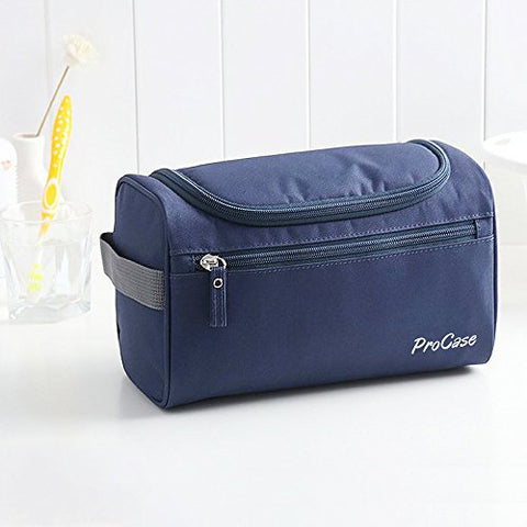 e9211b3473b0 Procase Toiletry Bag Travel Case With Hanging Hook, Organizer For  Accessories, Shampoo, Cosmetic, Personal Items, Healthcare Bag With Handle,  Navy ...