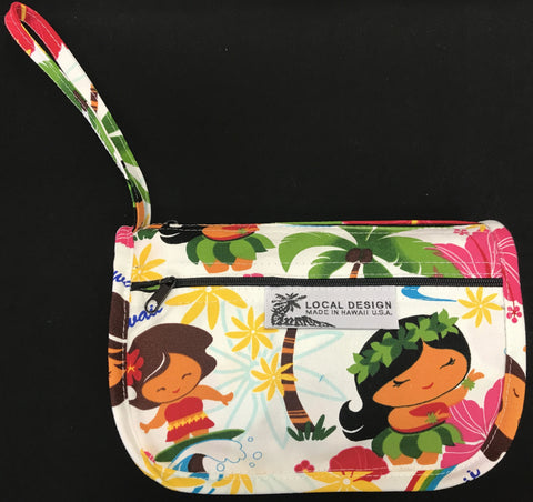 3 Zippered Cosmetic Bag/Wristlet