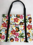 Medium Zippered Tote Bag
