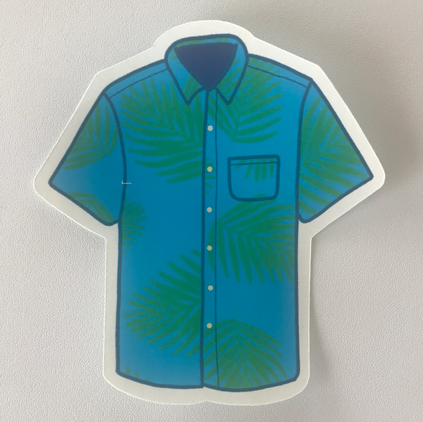 Aloha Shirt Sticker