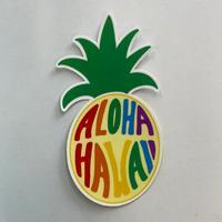 Aloha Hawaii Pineapple Sticker