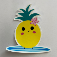 Surfing Pineapple Sticker