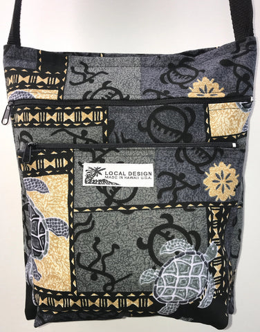 3-Zippered Cross-Body Purse w/ Lining