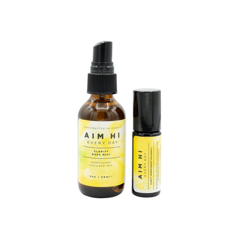 Clarity Aromatherapy Face & Body Mist and Rollerball