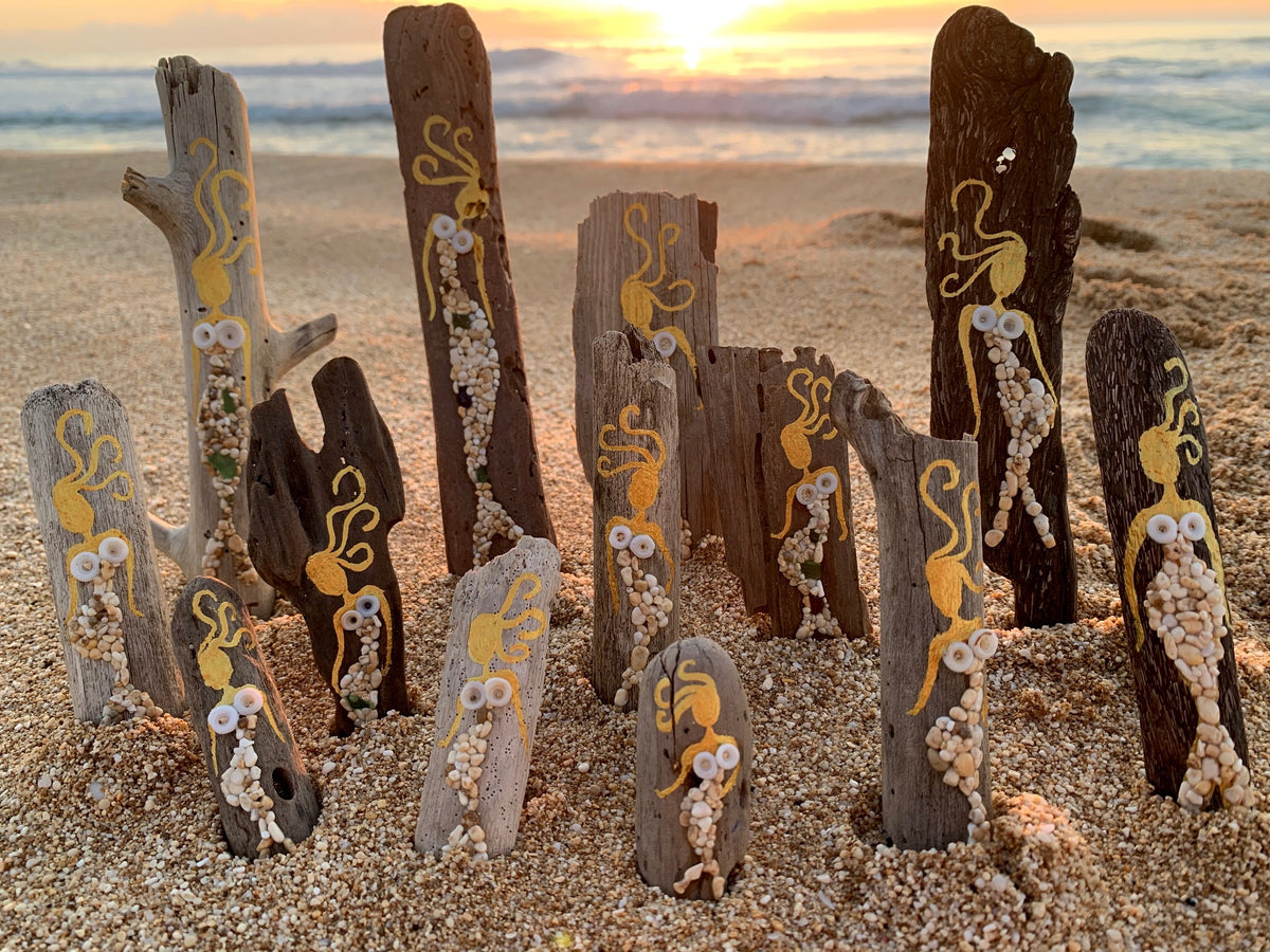 Mermaid Minis on Driftwood/Reclaimed Wood