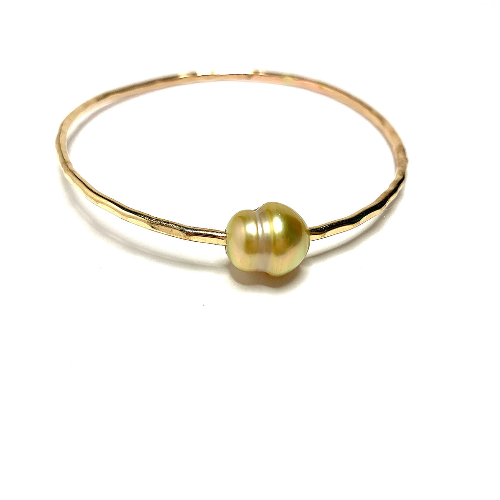 South Seas Golden Pearl bangle