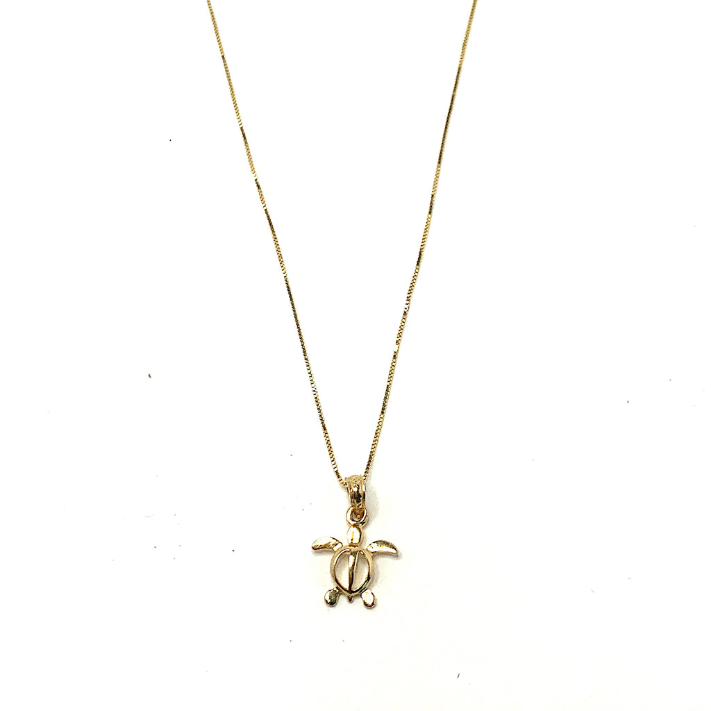 Honu 14kt Gold Necklace