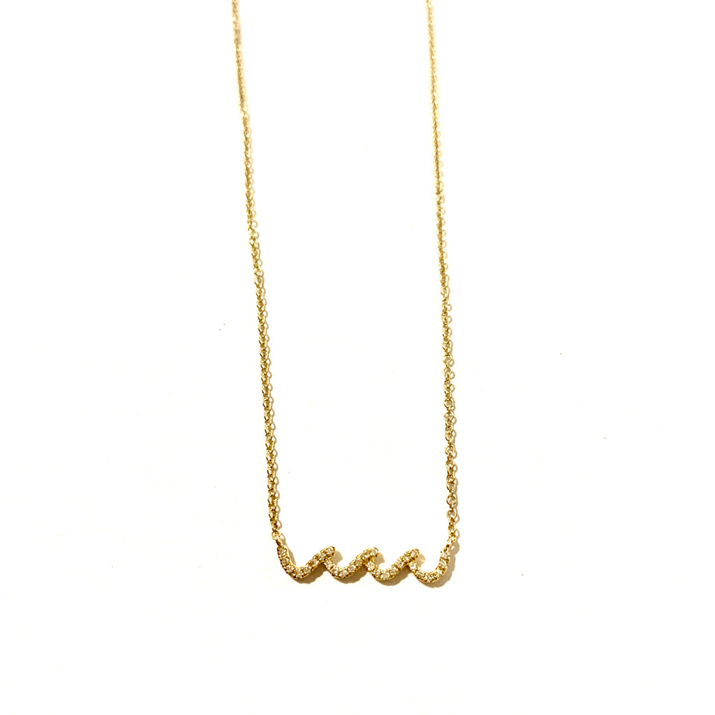 Wave Nalu 14kt Gold and Diamond necklace