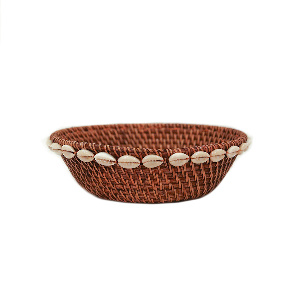 Rattan Shell Lined Bowl