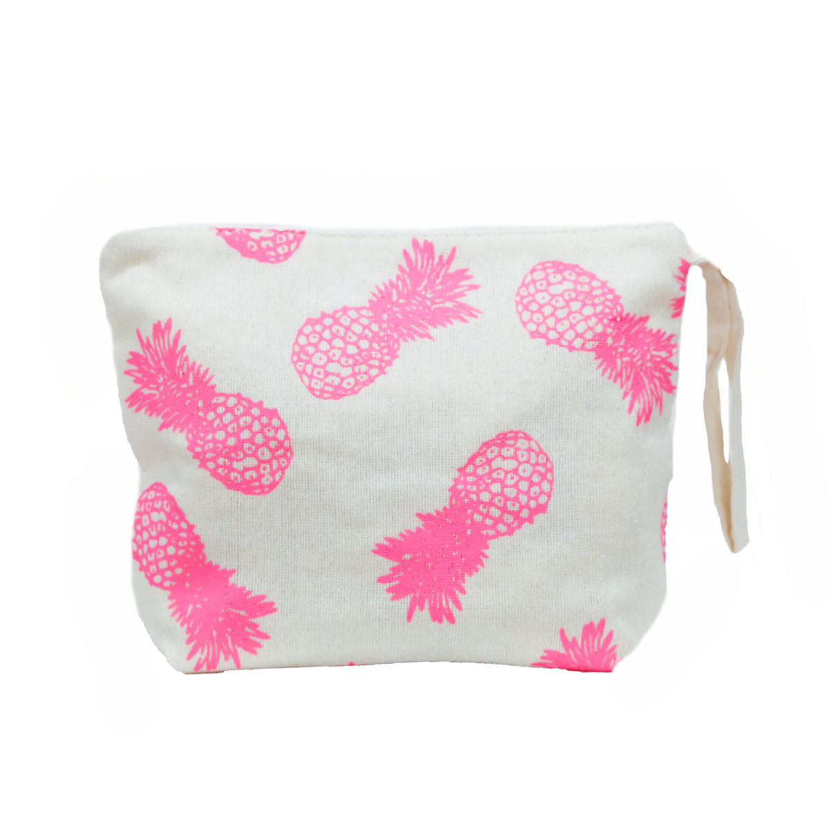 Printed Canvas Pineapple Pouch