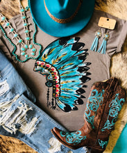 Load image into Gallery viewer, Turquoise Junkie Tee