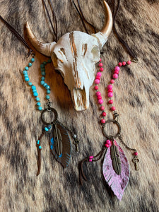 Feathered Indian Necklace