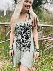 Feathered Indian Dress