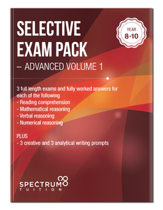 Selective Exam Pack - Advanced Volume 1