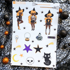Moons and Brooms Sweet Spell Sticker sheet 1