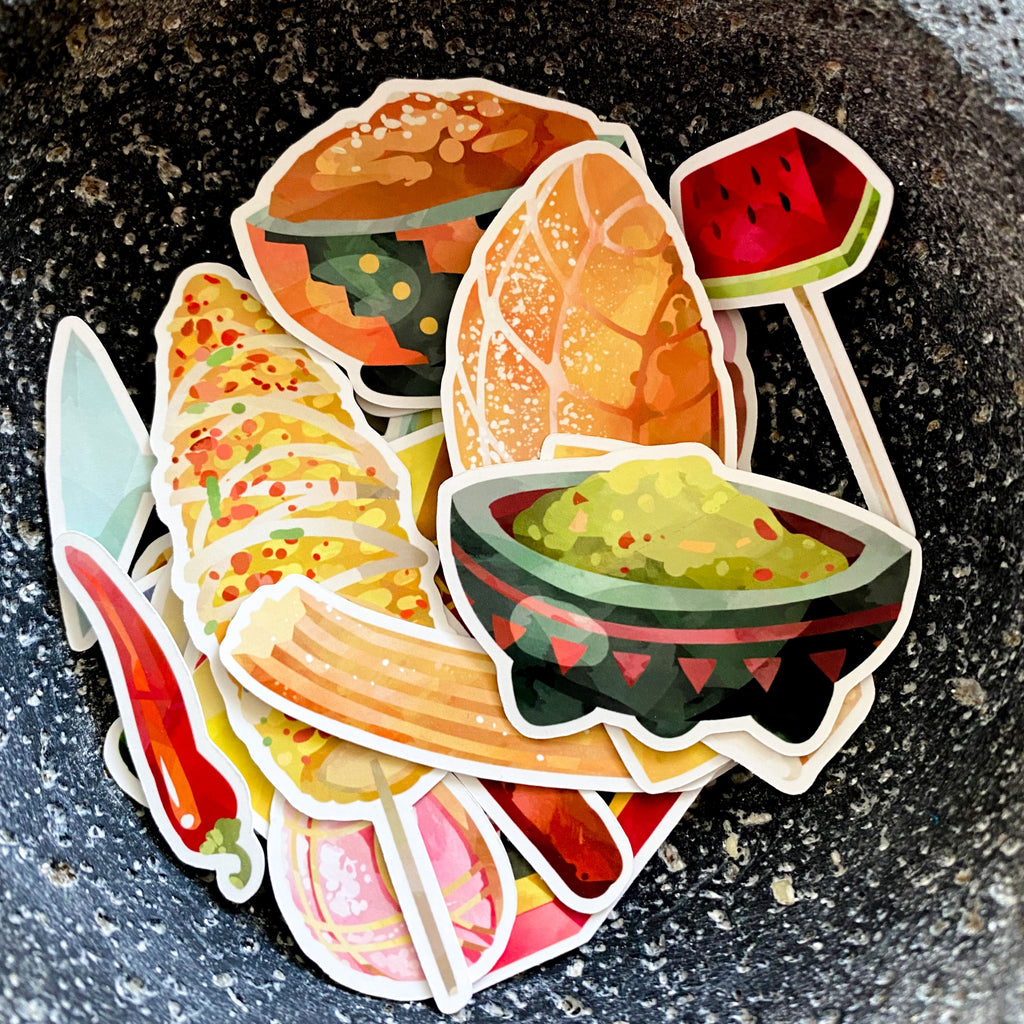 Hispanic Food Ephemera Paper Diecuts