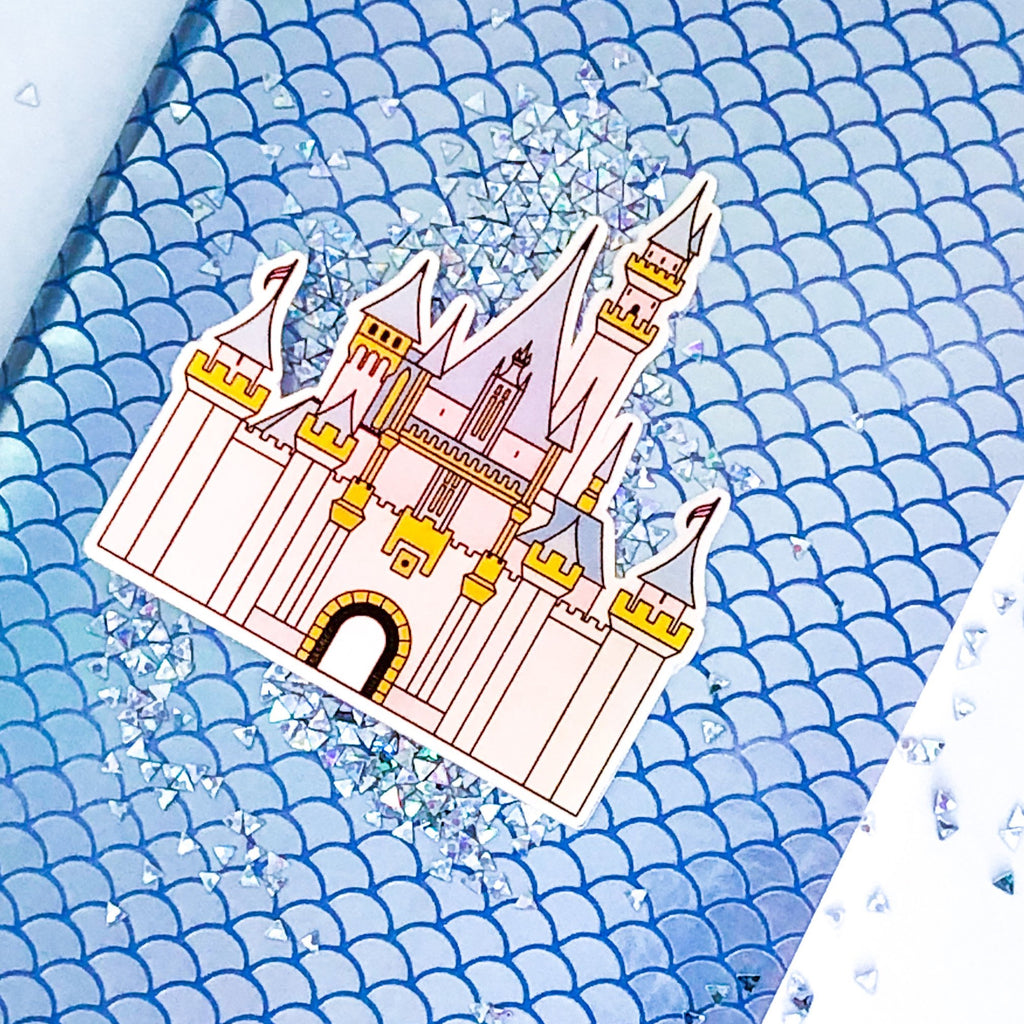 Iridescent Castle Sticker