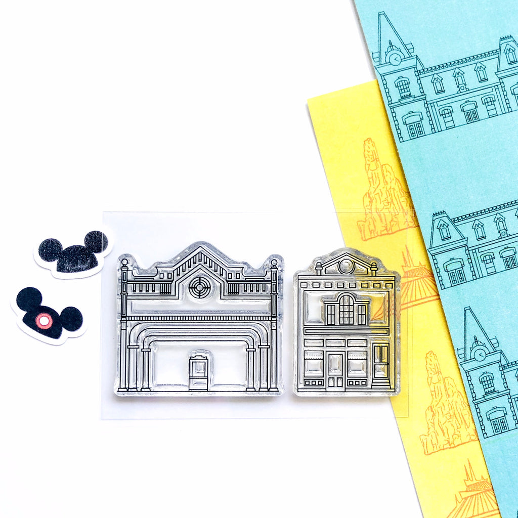 Main St. Buildings Stamp